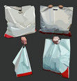 painted white bag bag in different versions vector image