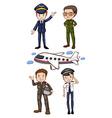 Pilots vector image