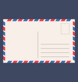post card template vector image