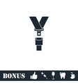 Safety belt icon flat vector image