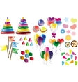 Set of toys for kids vector image