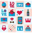 Valentine flat icon vector image