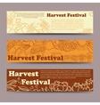 Harvest festival vegetable horizontal banners vector image