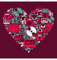 Dj Music love heart vector image vector image