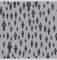 people icon seamless pattern vector image