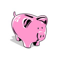 Pink Piggybank vector image vector image