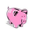 Pink Piggybank vector image