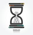 infographics hourglass design diagram vector image vector image