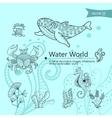 Water wordls vector image