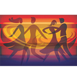 Two Dancing couples vector image