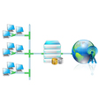 networking vector image