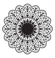 Black and white circular pattern or mandala vector image