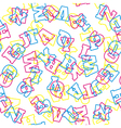 Seamless alphabet pattern vector image