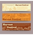 Harvest festival vegetable horizontal banners vector image