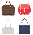 ladies handbags vector image