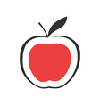 Modern Red apple vector image