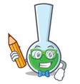student tube laboratory character cartoon vector image