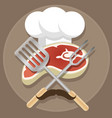 grill and barbecue cartoon vector image