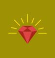 flat icon on background poker diamond symbol vector image