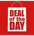 Deal of the day poster with bag vector image