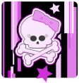 Girly skull and crossbones vector image