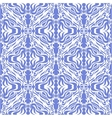 Damask blue seamless background vector image