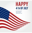 American flag background for Independence Day vector image vector image