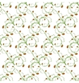 Sample pattern of white background rhythmic green vector image