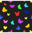 Seamless of butterflies vector image