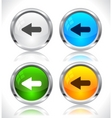 metal web buttons vector image vector image