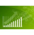 Green graph vector image