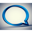 Speech bubble 3d modern style vector image vector image