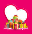 birthday - valentine or christmas greeting card vector image