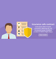 insurance safe contract banner horizontal concept vector image