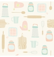 Kitchen utensils pattern vector image
