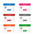 Newsletter forms vector image