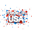 Paper USA confetti sign vector image