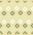 seamless pattern with flower of hearts background vector image