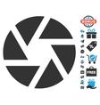 Shutter Icon With Free Bonus vector image