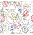 Stamps Retro Style Seamless Pattern vector image