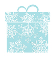 Stylized blue gift box vector image