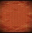 wall of red brick vector image