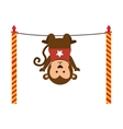 cute monkey circus animal vector image