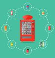 automatic vending machine in flat design vector image