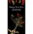 champagne bottle New Year vector image