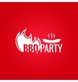 barbecue fire design background vector image vector image
