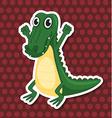 A toy crocodile vector image vector image