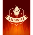 Halloween Typographic Design Background vector image