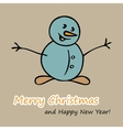 Christmas and New Year postcard with a Snowman vector image