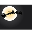 santa and the moon vector image